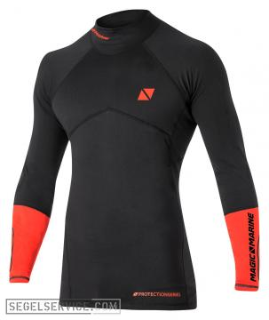 Magic Marine Rash Thermal-Shirt IMPACT PRO mit Prallschutz, schwarz-orange