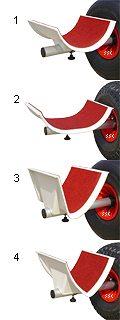 cad.kat Ersatzschale für Ecoline-Katamaran-Slipwagen (Paar) [::Abverkauf::]