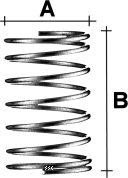 HS Aufstellfeder für 6mm-Blöcke