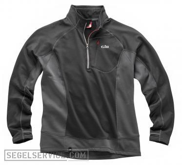 Gill Thermogrid-Pullover ZIP NECK, schwarz/grau