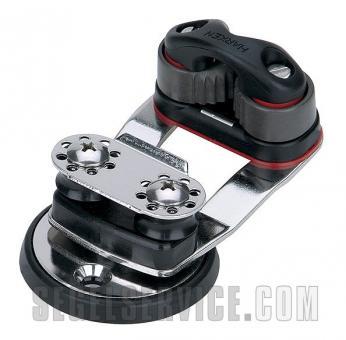 Harken Dreh-Basis mit Umlenkrollen und Micro Cam-Matic-Klemme