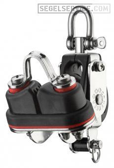 Sprenger 8mm-Block S-Serie (Kugellager), 1-scheibig, Klemme, Hundsfott, Wirbel