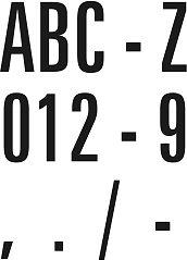 Klebebuchstaben 100mm (schwarz)