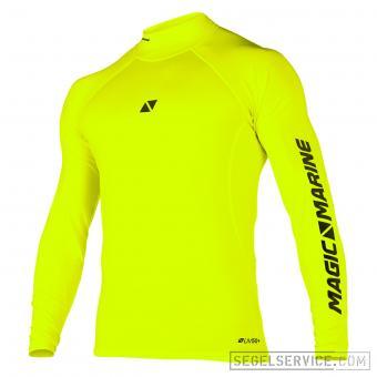 Magic Marine Rash-Shirt CUBE (Langarm), signal-gelb