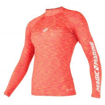 Magic Marine Rash-Shirt CUBE LADIES (Langarm), pink-melee
