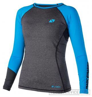 Magic Marine Rash-Shirt ENERGY LADIES (Langarm), schwarz/blau
