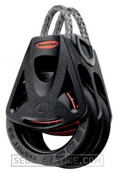 Ronstan Orbit-Block Series 40, 2-scheibig, Loop-Top