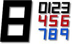 Segelnummer digital 380mm
