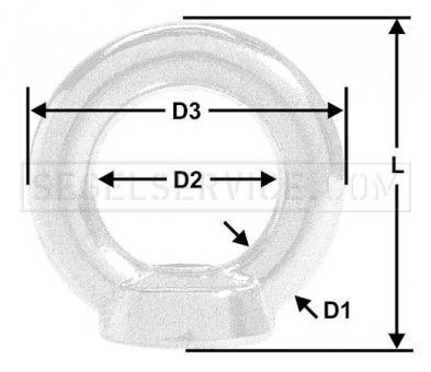 Ringmutter M6 (V4A)
