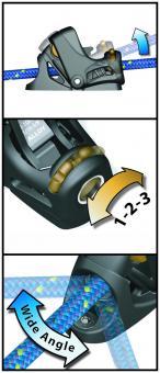 Spinlock Powerklemme PXR/SW 2-6mm mit Dreh-Basis