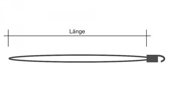 Zeisinge/Segeleinbinder mit Haken, weiß, 25cm (5 Stück)