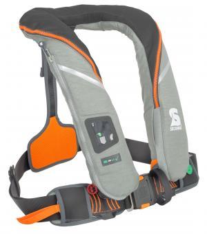 Secumar Rettungsweste SURVIVAL 220 Harness Automatik (mit Lifebelt), grau