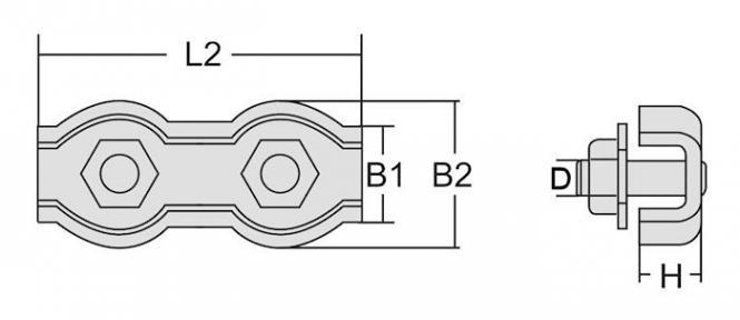 Seilklemme 2mm Duplex