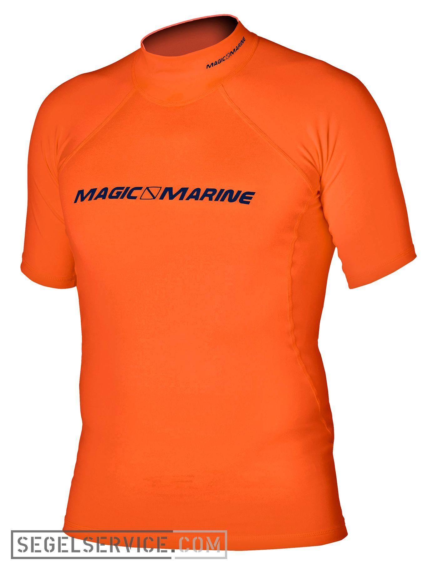 Magic marine rash shirt cube kurzarm orange for What is a rash shirt